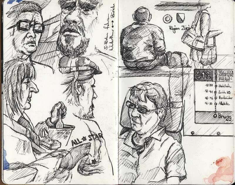 Sketching People on the Train