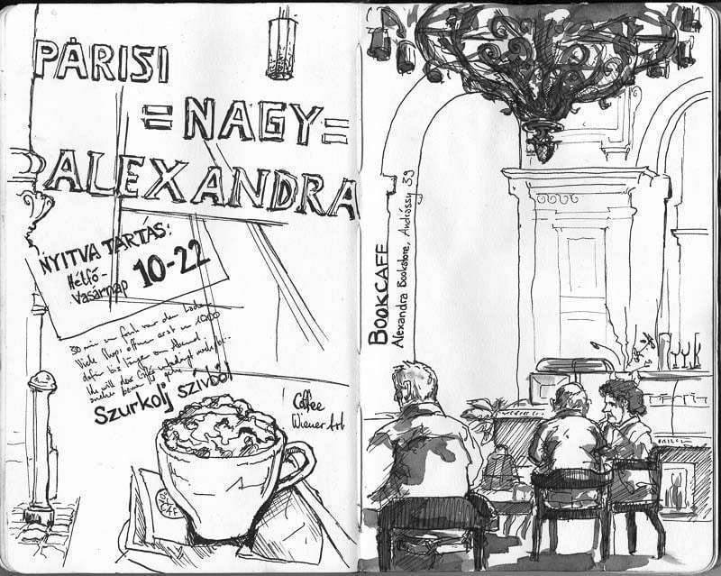 Interrail 2012 - Sketching and Coffee, Budapest