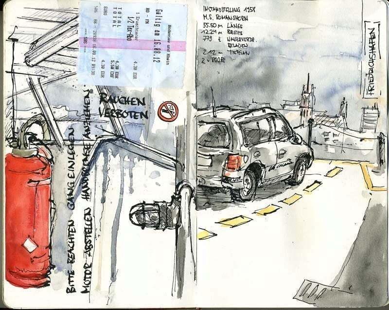 Interrail 2012 - On the ferry to Friedrichshafen