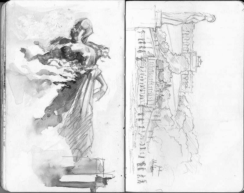 Interrail-2012 - Sketches at palace Schönbrunn, Vienna