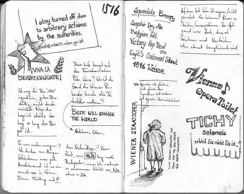 Interrail-2012 - Notes and text fragments, Vienna