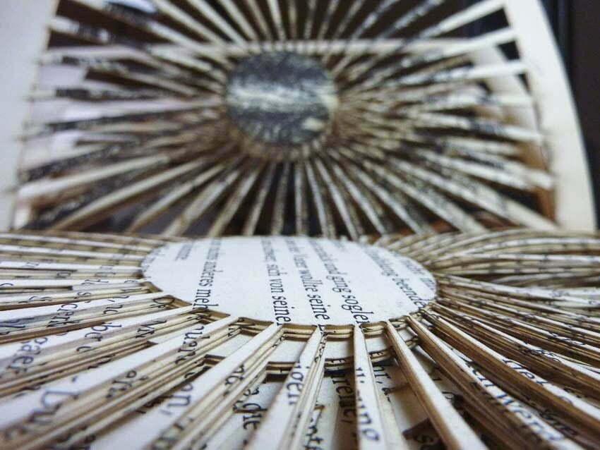 Lasercut book - Papercut landscape