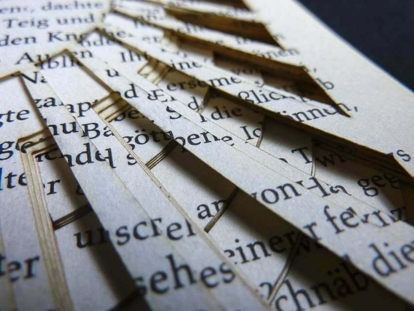 Lasercut book - Layers and text mixed