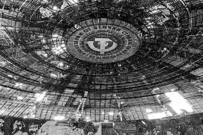 Inside the dome, Buzludzha, Bulgaria