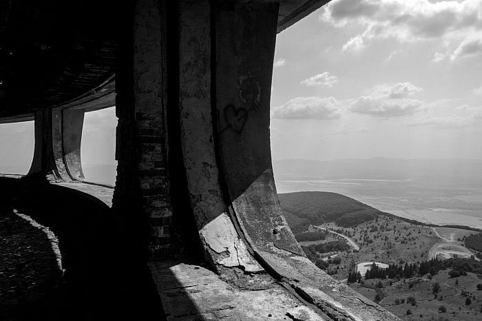 View from the gallery, Buzludzha, Bulgaria