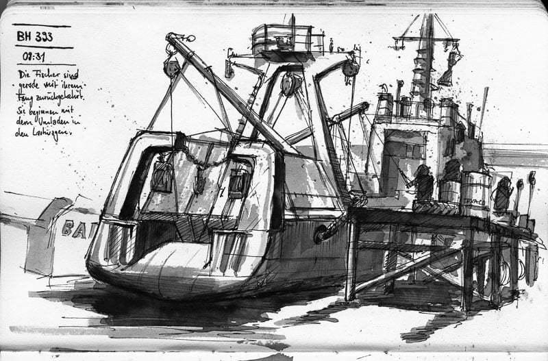 Varna, Fishing boat unloading