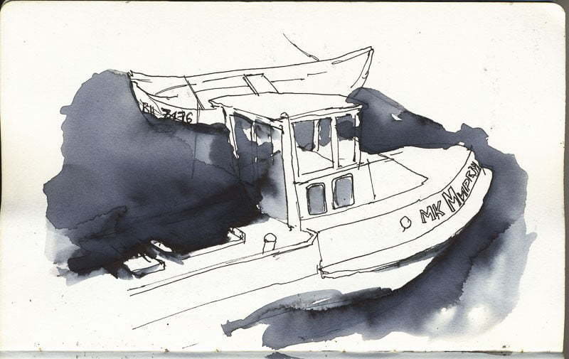 Varna, Half sunken boat