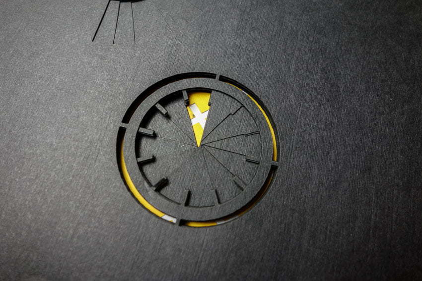 A Book about time - Papercut clock in layers