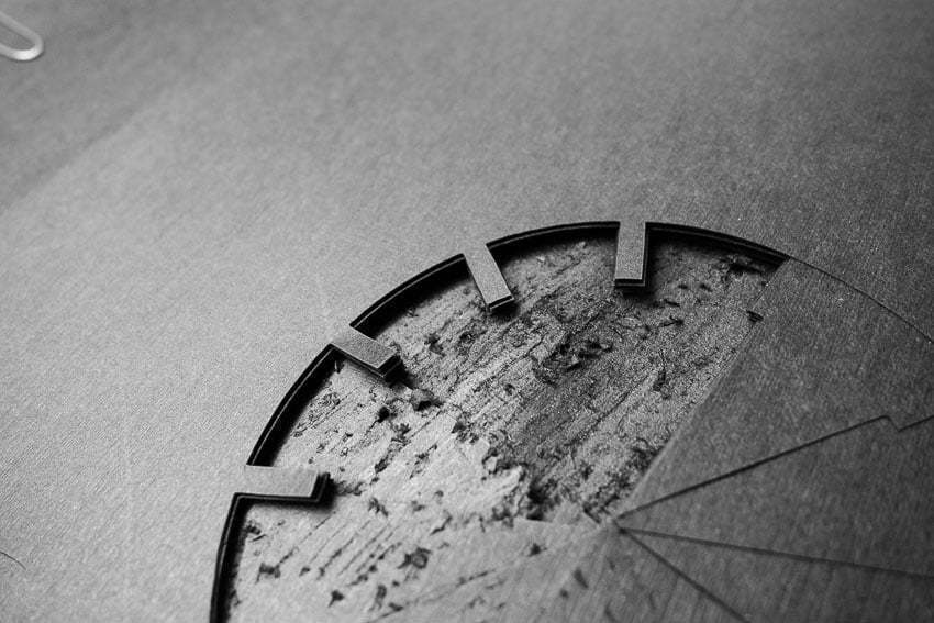 A Book about time - Damaged papercut clock
