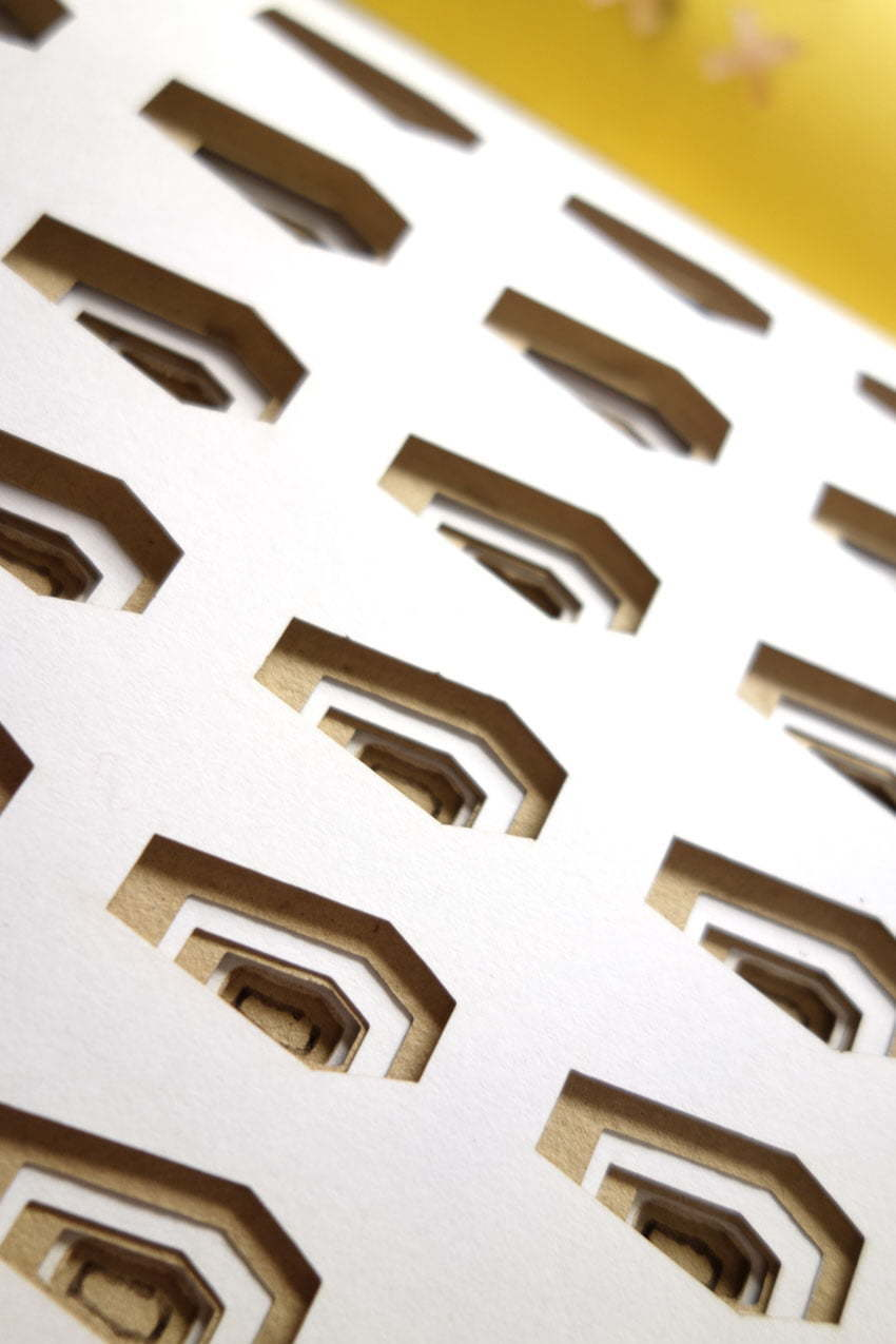 A Book about time - Multiple lasercut graves
