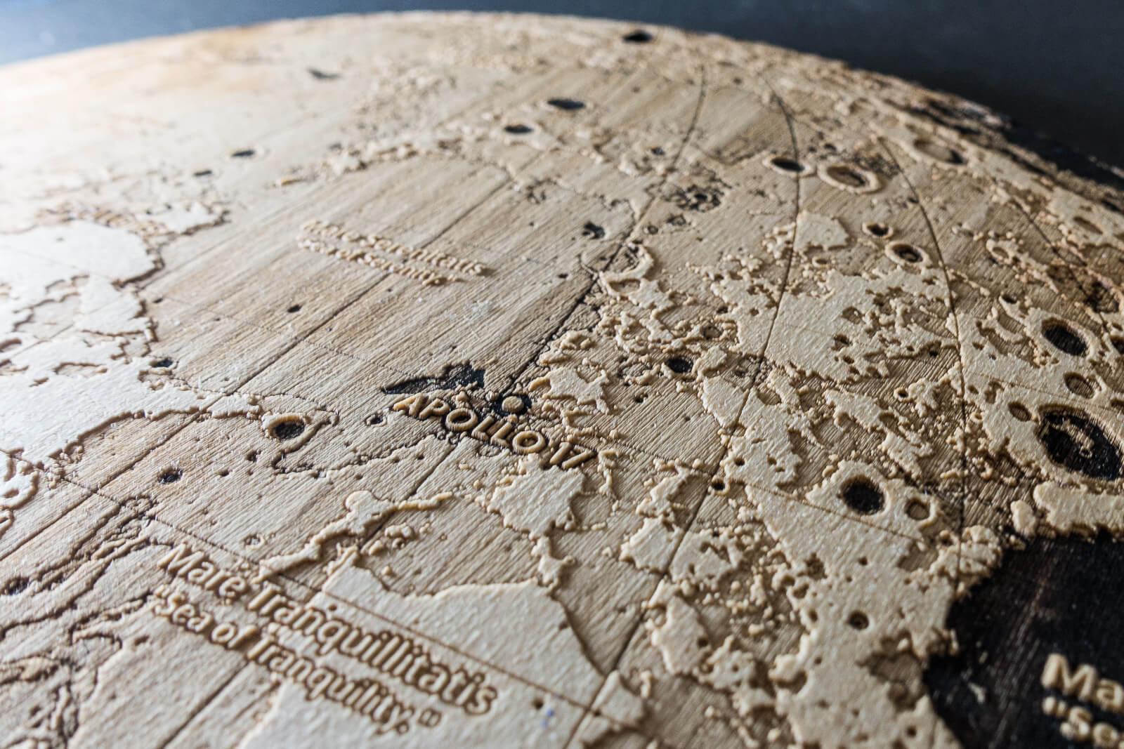 Topographic Map of the Moon   Work   Robin Hanhart