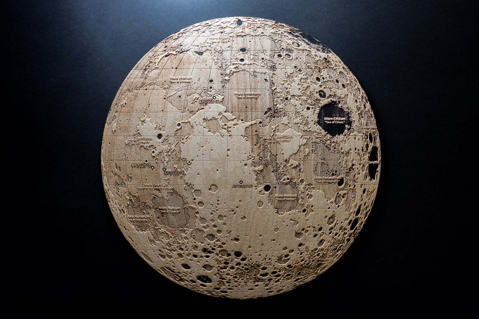 Topographic Map of the Moon | Work | Robin Hanhart